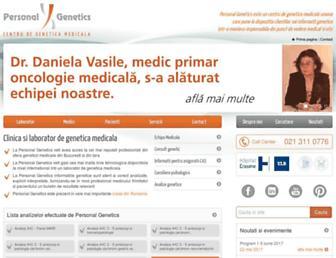 personalgenetics.ro screenshot