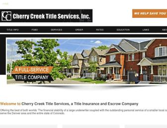 cherrycreektitle.com screenshot
