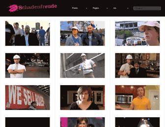 Main page screenshot of schadenfreude.net