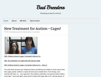 Main page screenshot of badbreeders.net