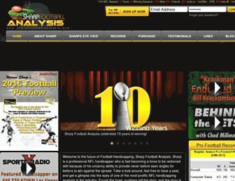 sharpfootballanalysis.com screenshot