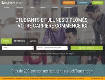 jobteaser.com screenshot
