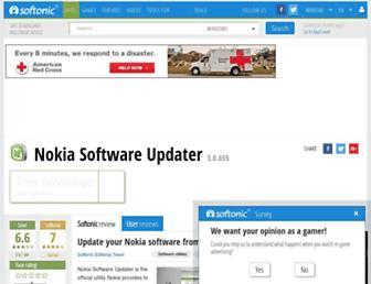nokia-software-updater.en.softonic.com screenshot