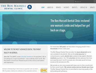 benmasselldentalclinic.org screenshot