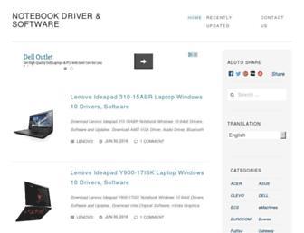 notebook-driver.com screenshot