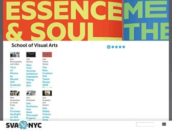 Main page screenshot of sva.edu