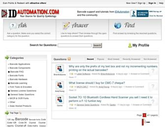 support.idautomation.com screenshot