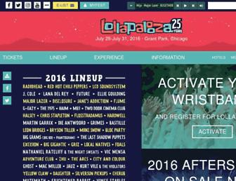 Thumbshot of Lollapalooza.com