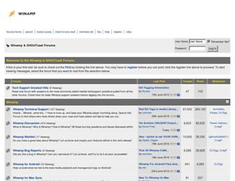 forums.shoutcast.com screenshot