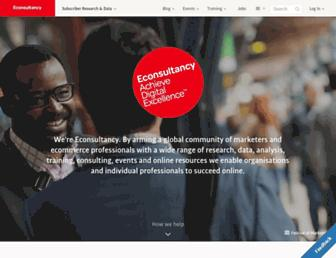 econsultancy.com screenshot