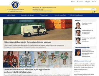 Main page screenshot of formin.finland.fi
