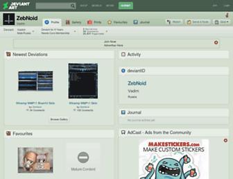 zebnoid.deviantart.com screenshot
