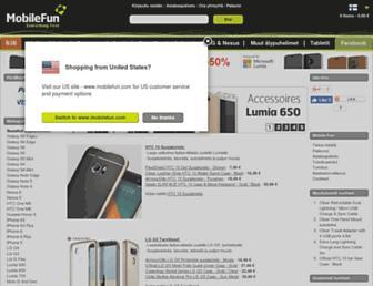 Main page screenshot of mobilefun.fi