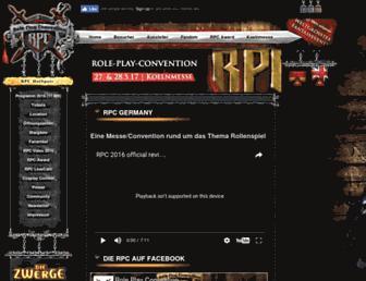 Main page screenshot of rpc-germany.de