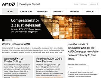 developer.amd.com screenshot