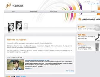 hobsons-international.com screenshot
