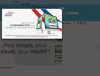 Main page screenshot of avironfrance.fr