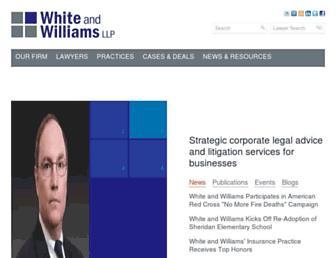 whiteandwilliams.com screenshot