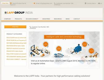lappindia.lappgroup.com screenshot