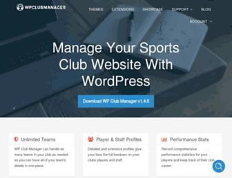 wpclubmanager.com screenshot