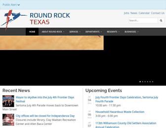 Main page screenshot of roundrocktexas.gov