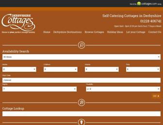 derbyshire-cottages.info screenshot