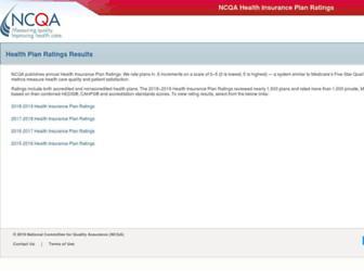 healthinsuranceratings.ncqa.org screenshot