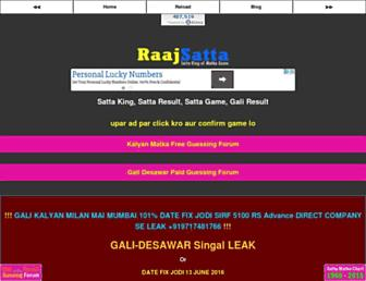 raajsatta.com screenshot