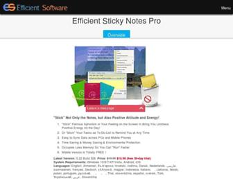 efficientstickynotes.com screenshot
