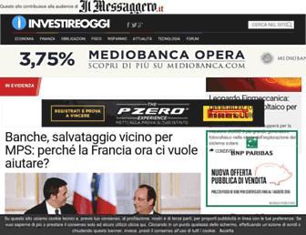 Main page screenshot of investireoggi.it