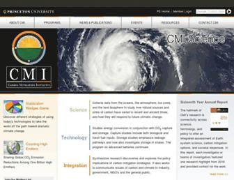 Main page screenshot of cmi.princeton.edu