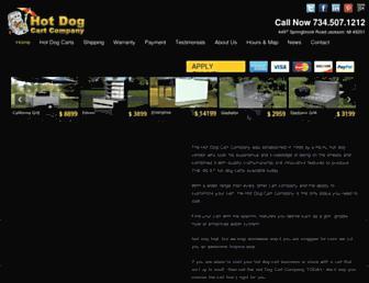 hotdogcartcompany.com screenshot
