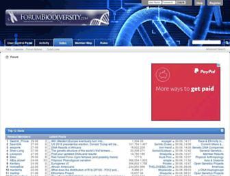 forumbiodiversity.com screenshot