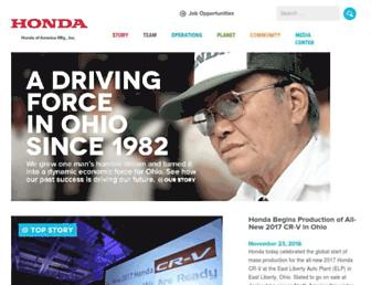 ohio.honda.com screenshot