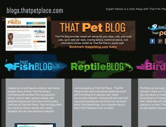 blogs.thatpetplace.com screenshot