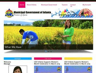Main page screenshot of infanta.gov.ph