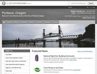 Thumbshot of Portlandonline.com