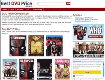 Main page screenshot of best-dvd-price.co.uk