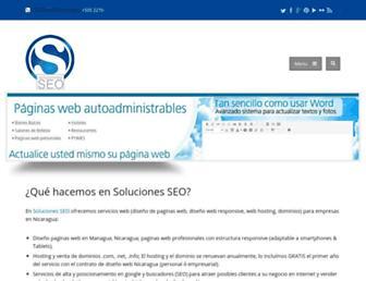 solucionesseo.com screenshot
