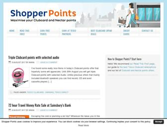 shopperpoints.co.uk screenshot