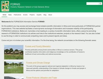 Main page screenshot of fornis.net