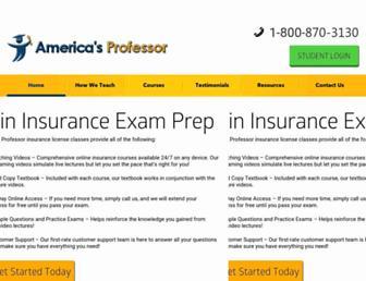 americasprofessor.com screenshot