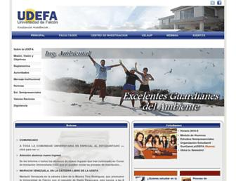 udefa.edu.ve screenshot