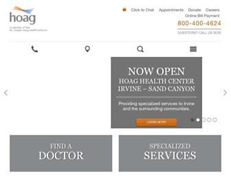 hoag.org screenshot