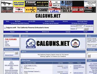 Main page screenshot of calguns.net