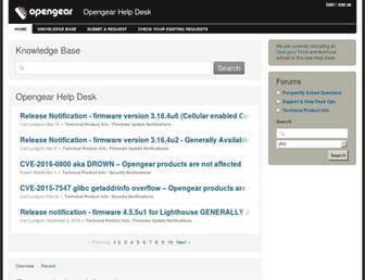 opengear.zendesk.com screenshot