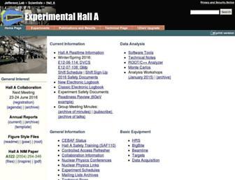 hallaweb.jlab.org screenshot