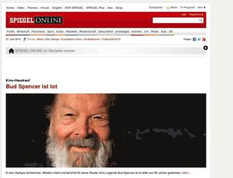 Main page screenshot of spiegel.de