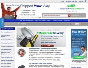 laptopbatteryexpress.com screenshot