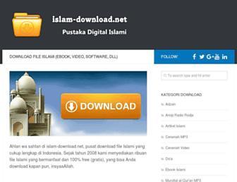 Main page screenshot of islam-download.net